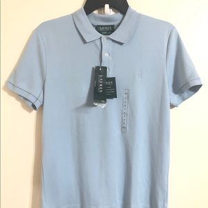 Lauren Ralph Lauren Womens Polo Shirt Rain Blue